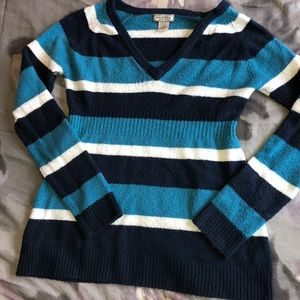 Arizona Jean company blue & white striped sweater